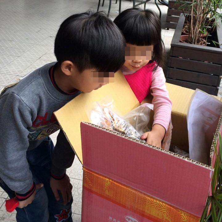 孩子收到年菜